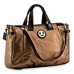Liz Lange Claudia Gold Metallic Hobo Diaper Bag