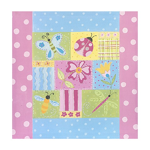 Quilted Garden Bugs Canvas Art