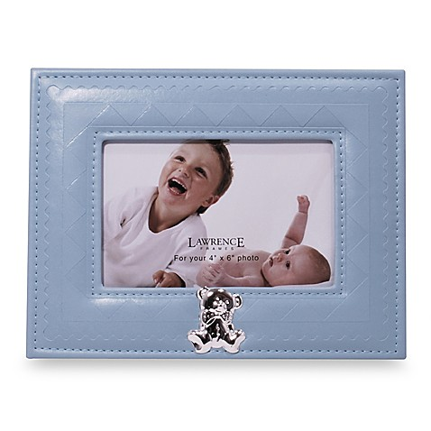 Blue Leatherette Teddy Bear Frame by Fred M. Lawrence