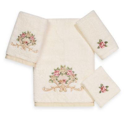 Avanti Premier Royal Rose Washcloth in Ivory