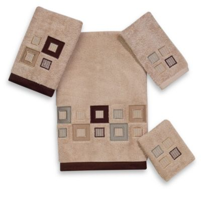 Avanti Brown Linen Bath Towel
