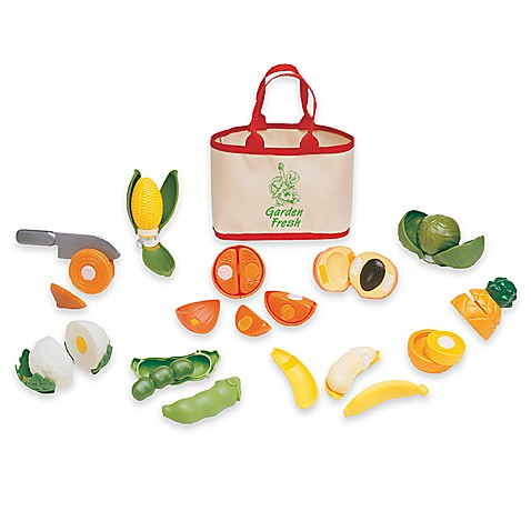 Garden Fresh Fruits and Veggies Play Set by International Playthings