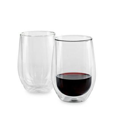 Wine Enthusiast Steady-Temp Double Wall Cabernet Glassware (Set of 2)