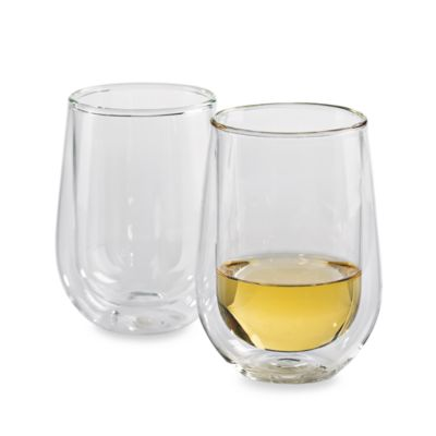 Wine Enthusiast Steady-Temp Double Wall Chardonnay Glassware (Set of 2)