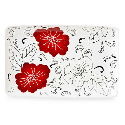 Laurie Gates Laura Ceramic Rectangular Platter