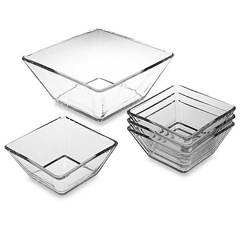 Sqare Glass Bowl Bed Bath Beyond