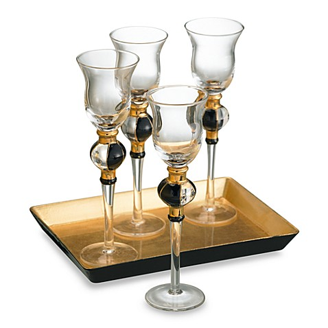 Artland® 5-Piece Radiance Cordial Glasses with Tray Set