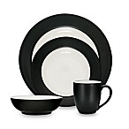 Noritake® Colorwave Graphite Rim 4-Piece Place Setting