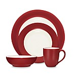 Noritake® Colorwave Raspberry Rim 4-Piece Place Setting