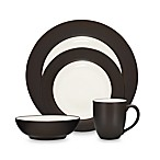 Noritake® Colorwave Chocolate Rim 4-Piece Place Setting