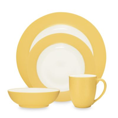 Noritake® Colorwave Mustard Rim 4-Piece Place Setting