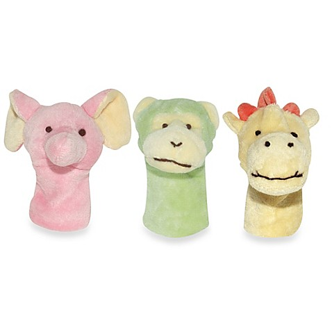 green sprouts® by i play.® Organic Jungle Finger Puppets in Giraffe, Monkey, Elephant