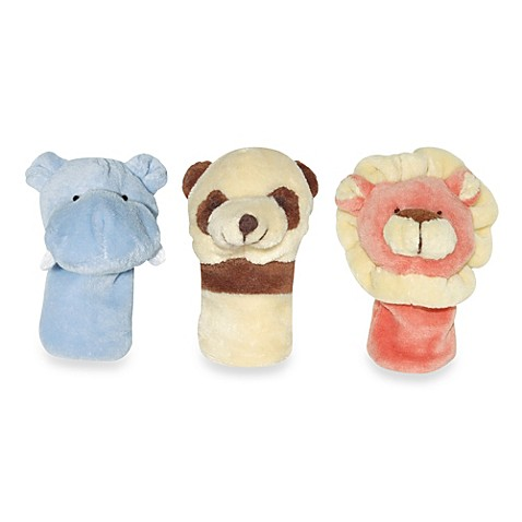 green sprouts® by i play.® Organic Jungle Finger Puppets in Hippo, Panda, Lion