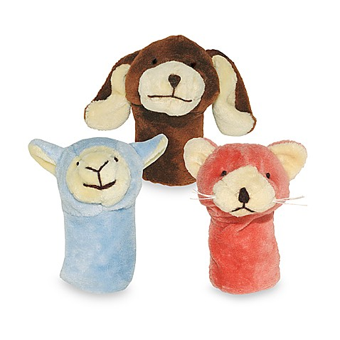 green sprouts® by i play.® Organic Farm Finger Puppets in Dog, Cat, Lamb