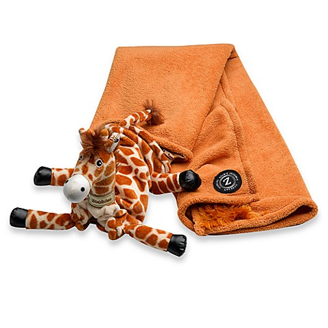 Plush Animal Pillow Blanket : Zoobies Baby Jafaru the Giraffe 3-in-1 Plush Toy, Pillow and Blanket - buybuy BABY