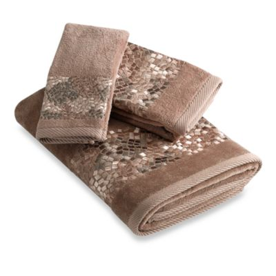 Croscill® Mosaic Tile Fingertip Towels