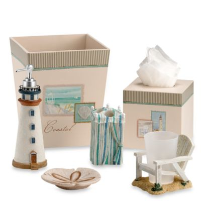 Coastal Collage Toothbrush Holder