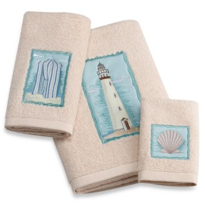 Coastal Collage Washcloth
