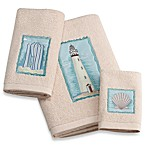 Coastal Collage Bath Towel