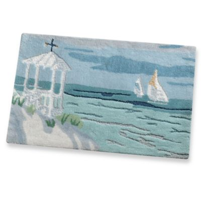 Coastal Collage Bath Rug