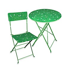 Field of Grass Folding Table and Chair