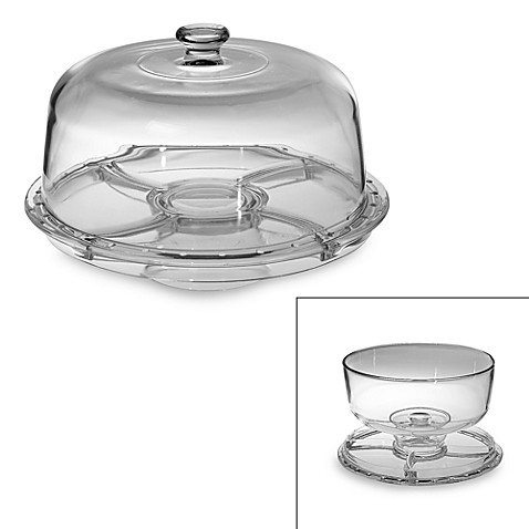 Home Essentials 6- in -1 Footed Cake Dome
