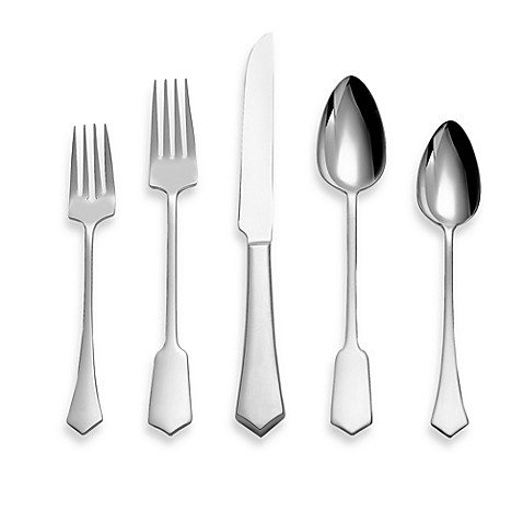 Gourmet settings goth 20 piece flatware set bed bath beyond - Gourmet settings silverware ...