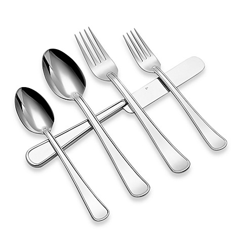 Gourmet settings gs army 20 piece flatware set bed bath beyond - Gourmet settings silverware ...