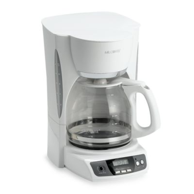 Buy Mr. Coffee 12-Cup Programmable Coffee Maker in White from Bed Bath & Beyond