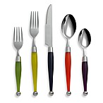 Cambridge® Silversmiths Spectrum Jungle 20-Piece Flatware Set with Rack