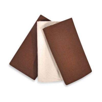 Tadpoles™ 3-Piece Blanket Set - Brown
