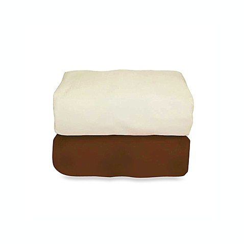 Tadpoles™ Waffle Organic Cotton Fitted Crib Sheets (2-Pack) - Brown