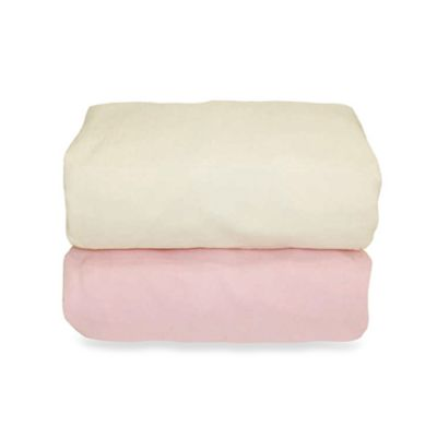 Tadpoles™ Flannel Organic Cotton Fitted Crib Sheets (2-Pack) - Pink