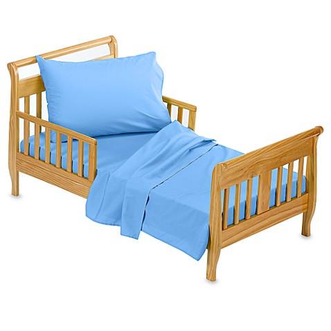 TadpolesTM Blue 3 Piece Toddler Sheet Set