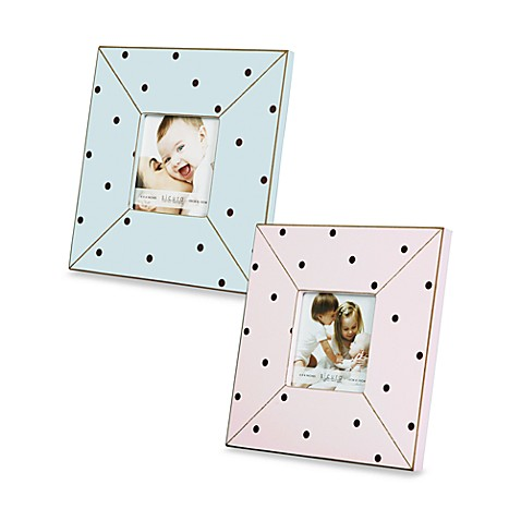 "Argento Pink and Brown Polkadots 4"" x 4"" Photo Frame"
