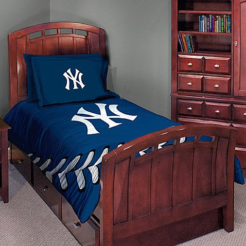 Major League Baseball Twin Full Comforter Set New York Yankees Buybuy BABY