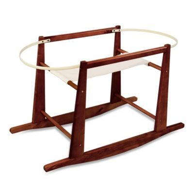 Jolly Jumper® Rocking Moses Basket Stand in Cherry