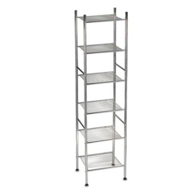 6-Tier Metal Tower Shelf in Chrome