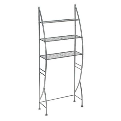 3-Tier Metal Space Saver Silver Finish Shelf