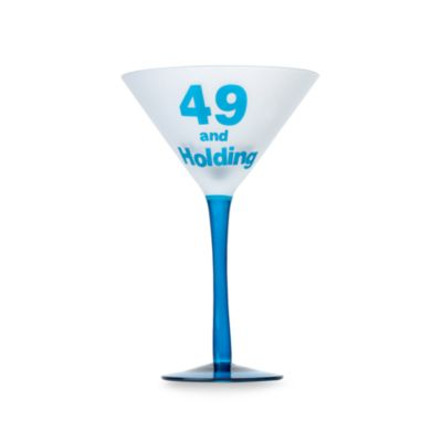 "Singles ""49 and Holding"" 9-Ounce Martini Glass"