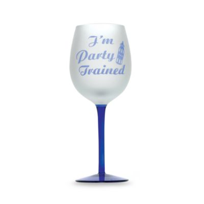 "Singles ""I'm Party Trained"" 16-Ounce Wine Glass"