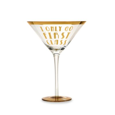 "Obnoxious Affluence ""I Only Go First Class"" 22-Ounce Martini Glass"