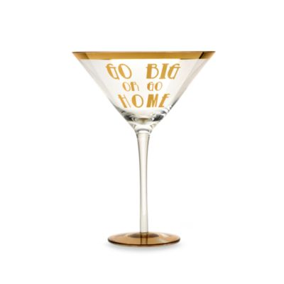 "Obnoxious Affluence ""Go Big or Go Home"" 22-Ounce Martini Glass"