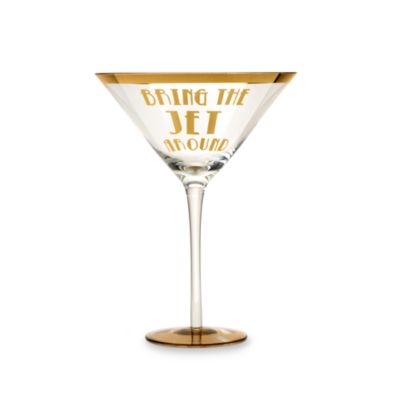 "Obnoxious Affluence ""Bring the Jet Around"" 22-Ounce Martini Glass"