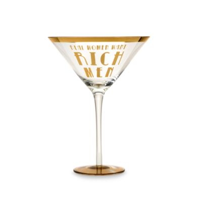 "Obnoxious Affluence ""Real Women Want Rich Men"" 22-Ounce Martini Glass"