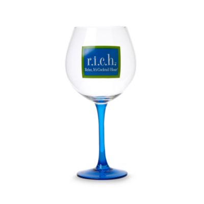 "Fine Whines RICH ""Relax It's Cocktail Hour"" 20-Ounce Wine Glass"