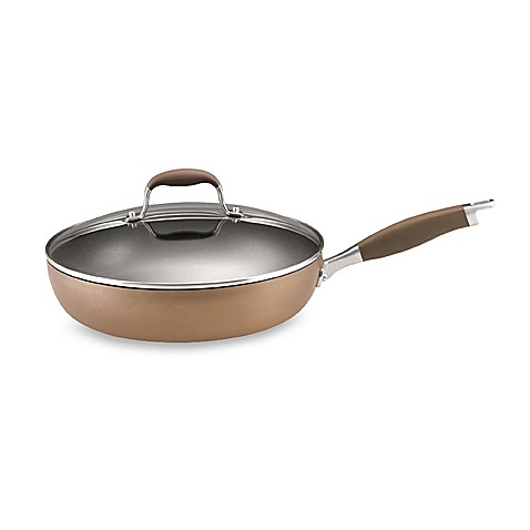 Anolon® Advanced Bronze 12-Inch Covered Deep Skillet