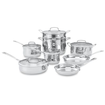 Cuisinart® Contour™ Stainless Steel 13-Piece Cookware Set
