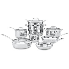 Cuisinart® Contour™ Stainless Steel 13-Piece Cookware Set and Open Stock