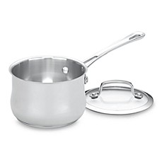 Cuisinart® Contour™ Stainless Steel 1-Quart Covered Saucepan
